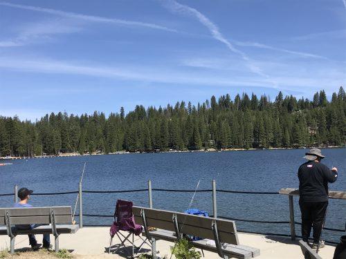 Fishing at Pinecrest Lake