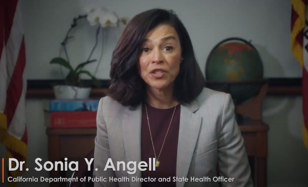 California public health director Dr. Sonia Angell resigns