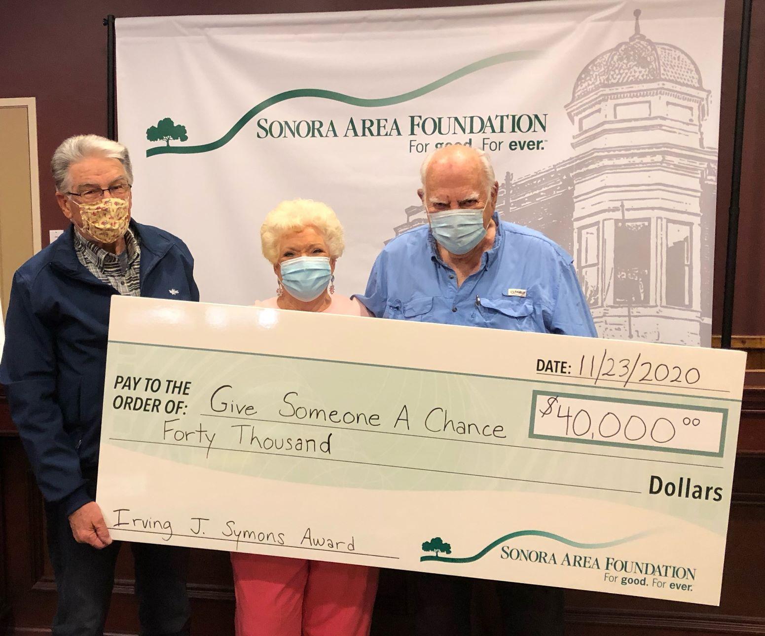 Homeless Support Organization Receives Surprise Irving J. Symons